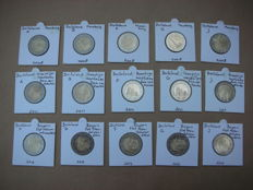 Germany - 2 Euro coins 2008, 2011 and 2012 (15 different ones, in total)