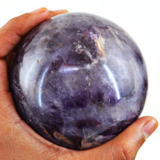 "Top Color Chevron Amethyst ""healing ball"" - 96 mm - 980 gm"