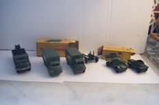 Dinky Toys - Scale 1/48 - Big Bedford 3-Ton Army Wagon no.621 - Bedford Army Covered Wagon no.623 - Daimler Armoured Car no.670 - Daimler Scout Car no.673 - 5.5 Medium Gun no.692 - Berliet Missile Launcher no.816
