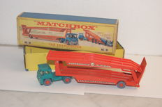 Lesney Matchbox King-Size Series - Guy Warrior Tractor with 'Farnborough Measham Car Auction Collection' Transporter no.K-8-b