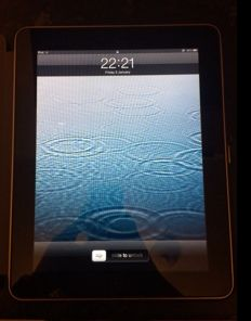 Apple iPad 1st Generation 16GB, Wi-Fi, 9.7in - Black without box but with adapter