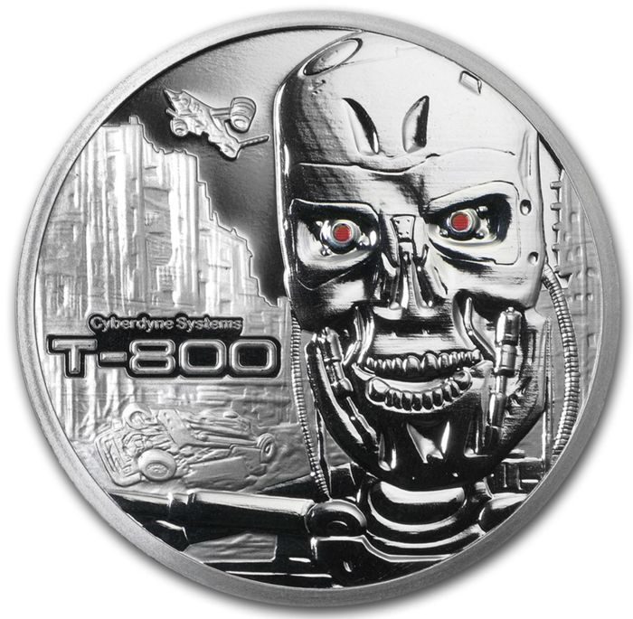USA - 'The Terminator T-800' with Serial Number - 1 oz Silver