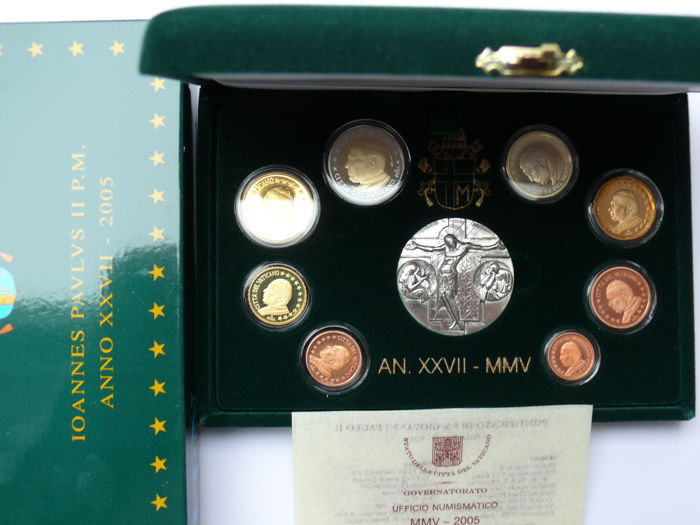 Vatican City - year collection 2005 including silver medallion - Catawiki