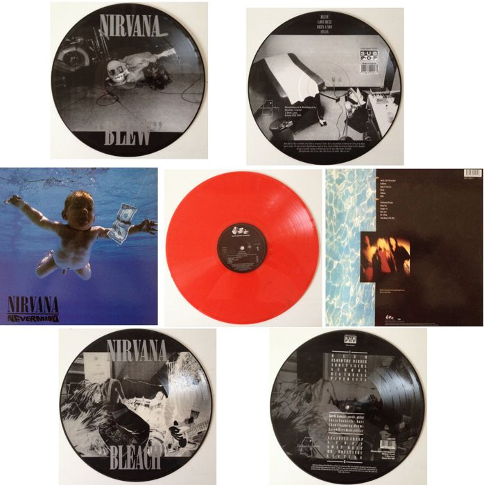 Nirvana  Lot Of Very Collectable Vinyl !!  -  Picture Discs & Coloured Wax  -  Unplayed !