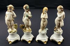 "Capodimonte - Set of Porcelain Maidens depicting: ""Le quattro stagioni"""