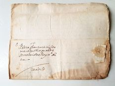 Spanish manuscript - Letter to secretary of Phillip II of Spain - 1593