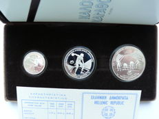 Greece - 100, 250, 500 drachmas - 1981 - 'Track and Field European Championship in Athens 1982' - silver
