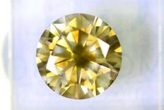 Fancy INTENSE Greenish Yellow -  2.15  ct - SI1 - * NO RESERVE PRICE *