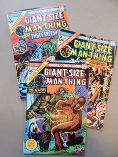 Marvel Comics - Giant-Size - Man-Thing #1 + 2 + 5 - 3x sc - (1974-1975)
