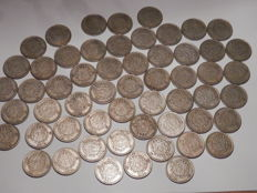 Sweden - Lot of 1 Kr from lots of years (390 gram) - silver
