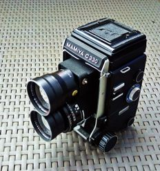 Mamiya C330 + 55 + 180mm, TTL prism and 12 accessories
