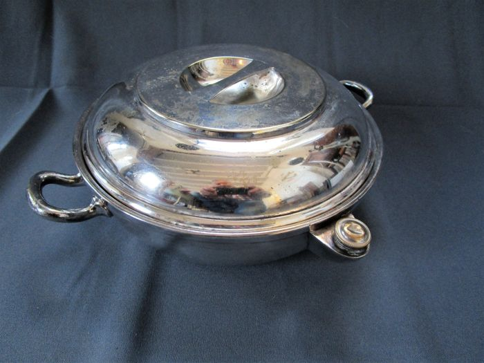 J.Galandet & Co France - warm holder plate with lid - early 20s. century - marked
