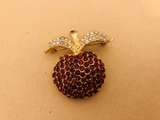 Antique garnet apple brooch USA circa 1920