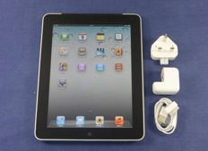 Apple iPad 1st Gen 64GB Black wifi + 3g without box with mains adapter