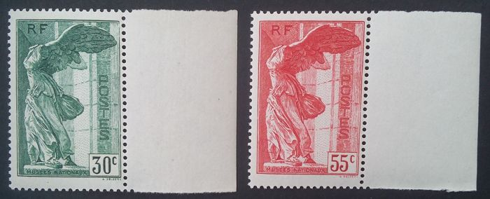France 1937 – Pair of Samothrace – Yvert no. 354/355