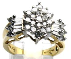 Heavy diamond ring 1.50 ct.  14 kt / 585 yellow gold, size 54/17.2 mm