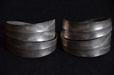 2 pieces Baltic Tremello Viking silver bracelets - 60 x 54 x 40 mm