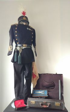 Japanese 3 stripe Medical Major Full Dress Uniform With Original Case And Personal Items