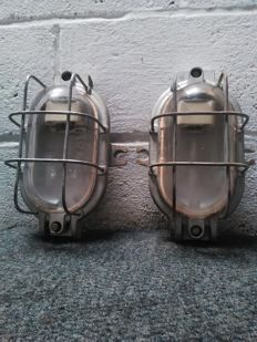 Unknown designer - Industrial design window lamp - (X2)