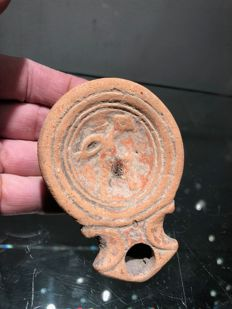 Terracotta oil lamp from the Roman period - 95 x 60 mm