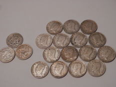 Sweden - Lot of 1 Kr 1875/1940 (133.1 gram) - silver