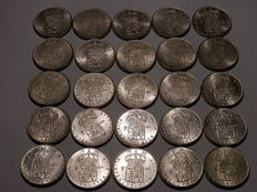 Sweden - Lot of 2 Kr from lots of years (349.9 gram) - silver