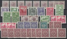 Austria from 1905 - batch on 18 large stock cards