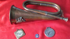 Authentic bugle horn of the British Army cavalry