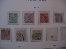 Württemberg 1875/23 collection of pfennigs