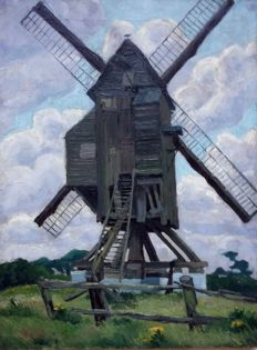 Luc Peire - attributed to -  (1916-1994) -  Windmolen