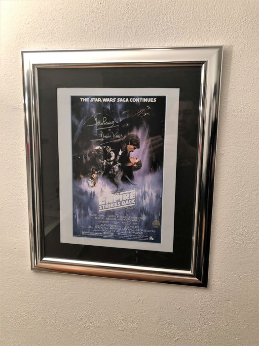 darth vader signed empire strikes back poster coa catawiki. Black Bedroom Furniture Sets. Home Design Ideas