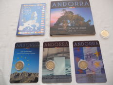 Andorra – 2 Euro 2014 and 2015 (4 different ones) + coin packs 2014 and 2015