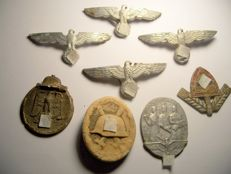 WW2 Germany a Small Collection of Badges and Medals