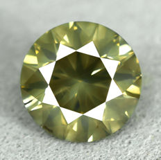 Diamond - 1.01 ct, Natural Fancy Intense Yellowish Green - VG/VG/VG