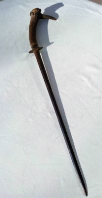 Handmade sword with antler handle