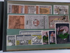 Germany - Album with over 500 emergency currency notes from the period 1920 = 1923