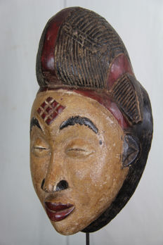 Beautiful old Okuyi tribal face mask – PUNO-Gabon