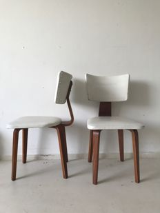 Cor Alons for Gouda den Boer - 2 Plywood Chairs 'CA19'
