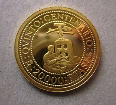 Spain - Gold - Juan Carlos I - 20,000 pesetas from 1992 - 5th centenary of the discovery of America - 999/1000 gold