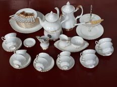Royal Albert, Val d'Or crockery, fine bone china, coffee, tea service