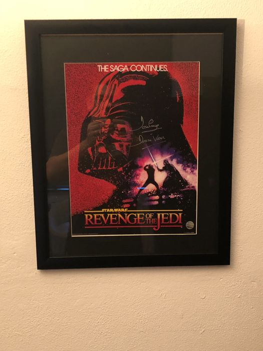 darth vader signed revenge of the jedi poster coa catawiki. Black Bedroom Furniture Sets. Home Design Ideas