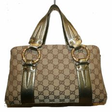 Gucci Monogram Canvas Metal Bamboo - *No Minimum Price*