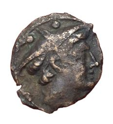 Roman Republic - Sextantal series? after 211 BC - Æ Reduced Sextans (16/15mm, 2.56gm) - Head of Mercury / Prow - Cr. 56/6; Syd. 143 d - Rare