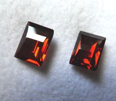 Rhodolite Garnets Matching Pair – 3.45 ct Total
