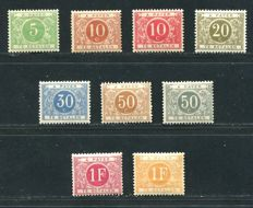 Belgium 1895 - Taxation stamps complete series - OBP TX3/11