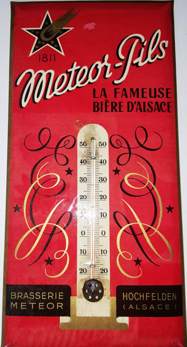 Thermometer Meteor Pils 1930