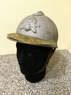 lot Adrian helmet model 1915 artillery - WW1