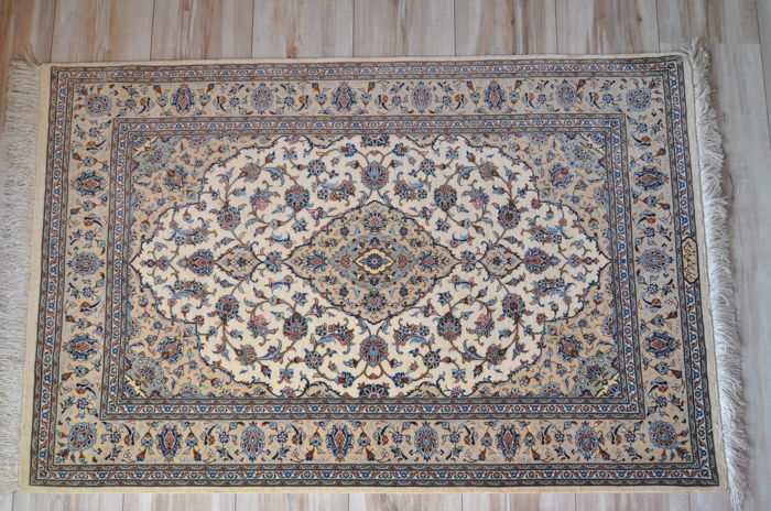 Hand-knotted Persian rug - Kashan 120 x 78 cm - Signed - Iran