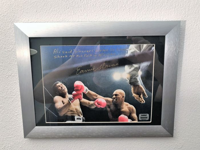 Earnie Shavers Signed 8x10 Photo vs. Muhammad Ali