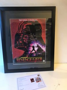 Darth Vader Signed Revenge Of The Jedi Poster + COA